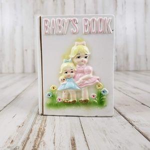 "Vintage Parma by AAI Japan Planter ""Baby's Book"""
